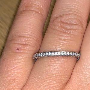 Infinity pandora ring sterling silver size 60